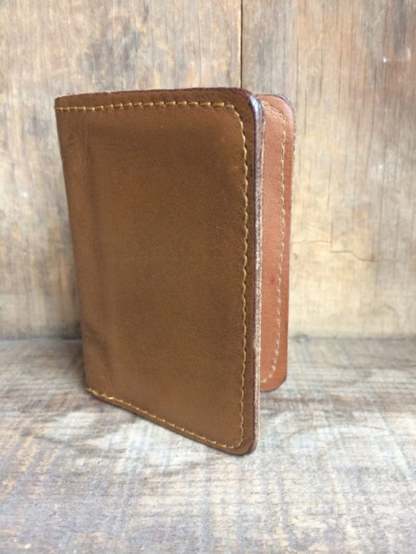 VINTAGE LEATHER CARD HOLDER/WALLET