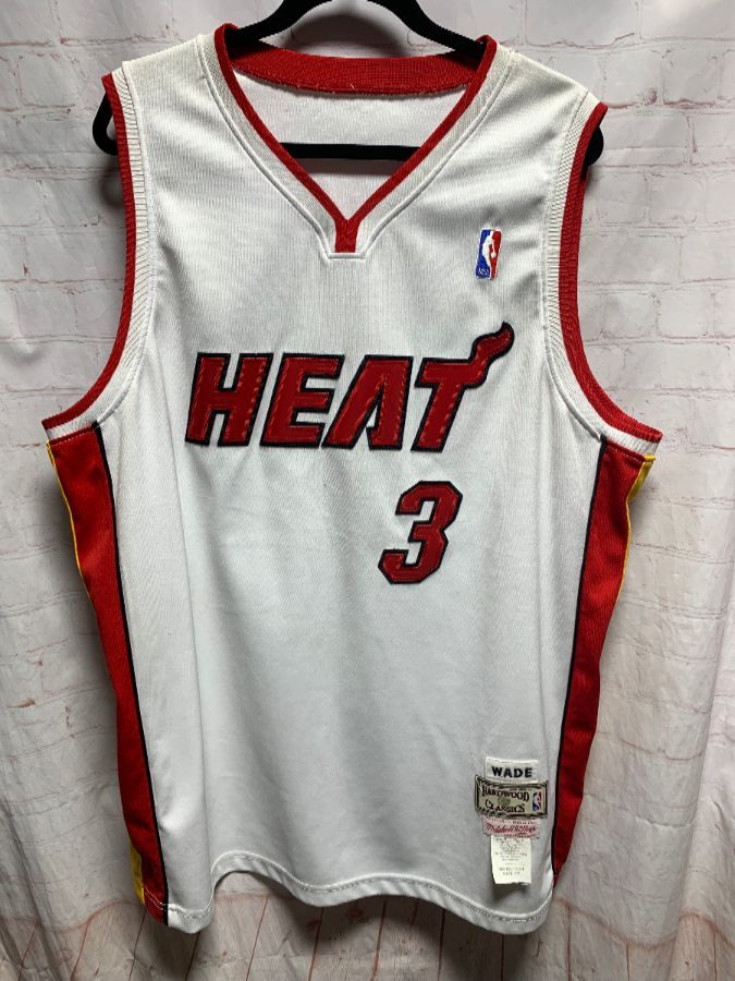quality design 57a1d 47b85 NBA MIAMI HEAT JERSEY #3 WADE HARDWOOD CLASSICS MADE IN USA