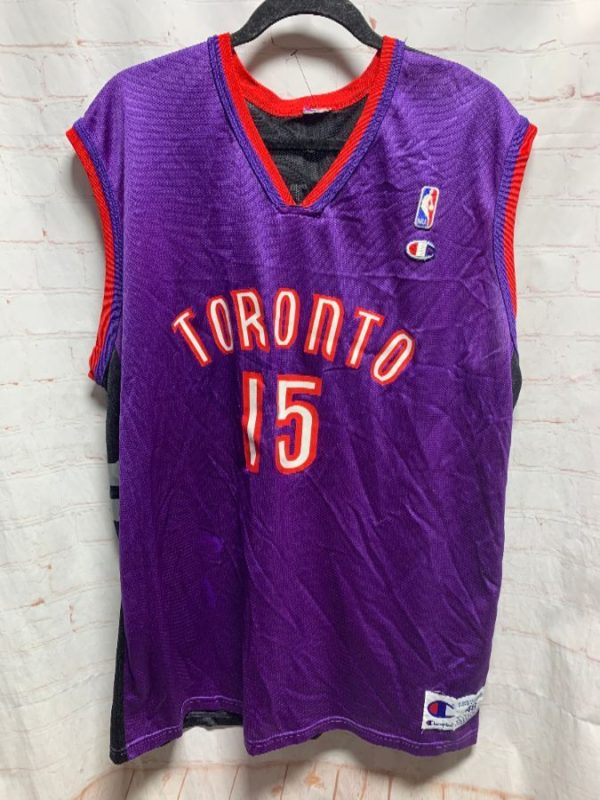 NBA TORONTO RAPTORS VINCE CARTER #15 BASKETBALL JERSEY