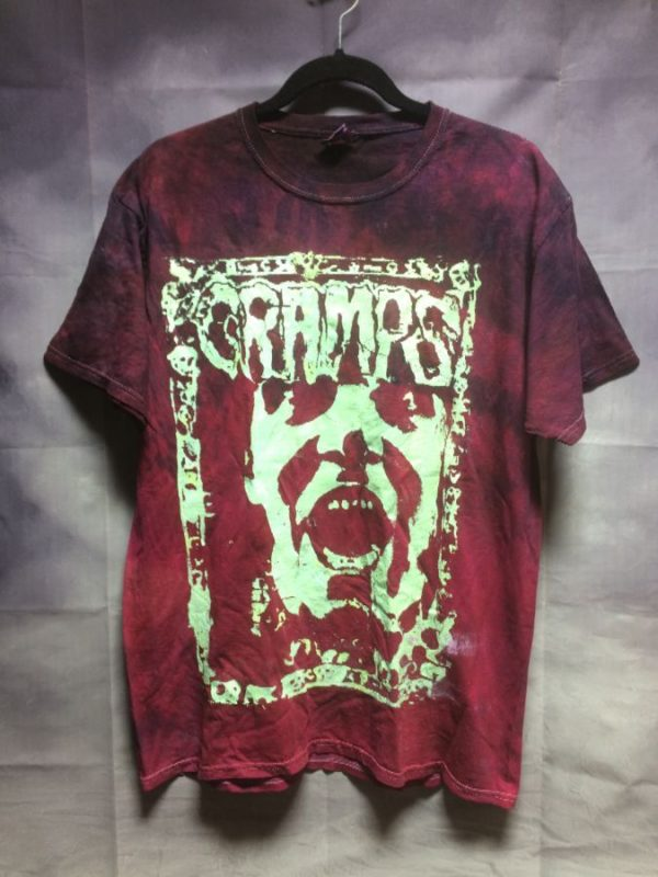 product details: SUPER RAD TIE-DYED T-SHIRT THE CRAMPS 1997 GRAPHIC DESIGN photo