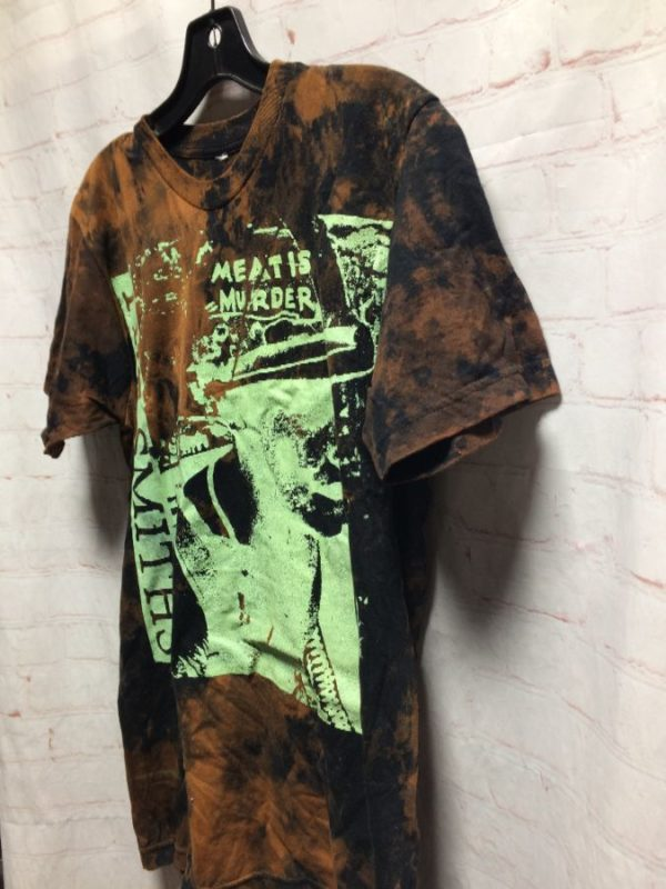 product details: THE SMITHS - MEAT IS MURDER W/ INVERSE IMAGE GRAPHIC DESIGN T-SHIRT photo