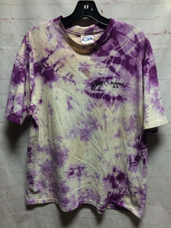 SUPER SOFT TIE-DYED T-SHIRT BUG O RAMA/VEE DUB PARTS UNLIMITED