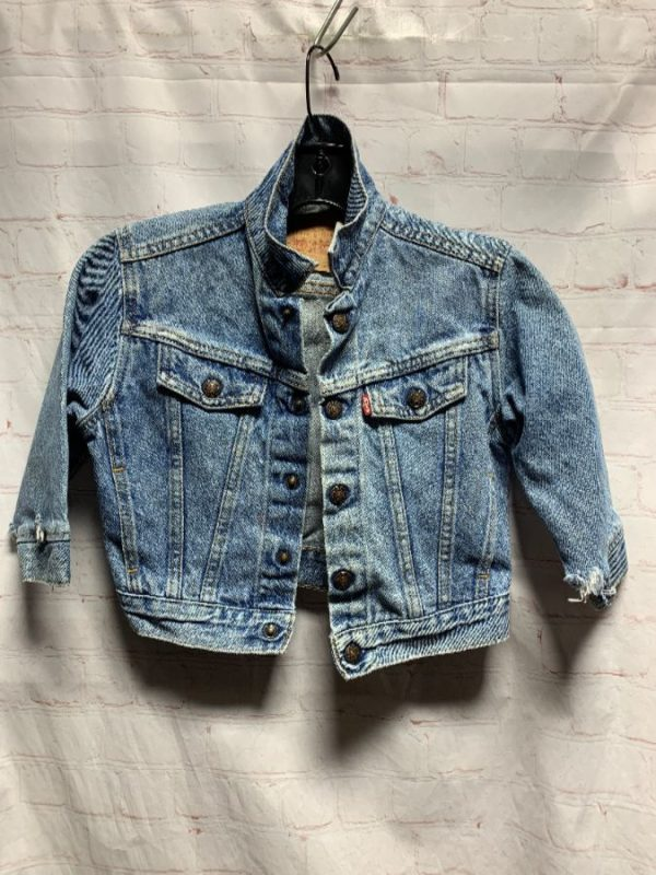 product details: VINTAGE LEVIS KIDS DENIM JACKET W/ CLASSIC ACID WASH photo