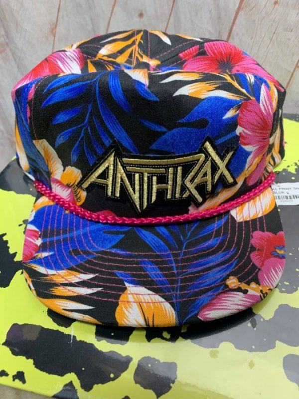 TROPICAL PRINT SNAPBACK HAT ANTHRAX PATCH