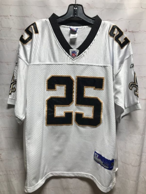 product details: NFL #25 REGGIE BUSH NEW ORLEANS SAINTS FOOTBALL JERSEY photo