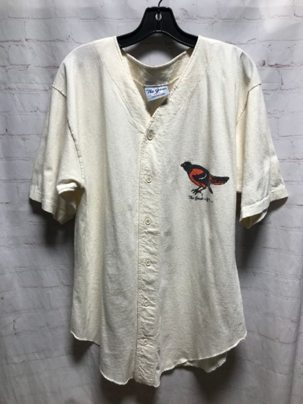 1994 COTTON ORIOLES BASEBALL JERSEY W/ SCREEN PRINTED FRONT LOGO