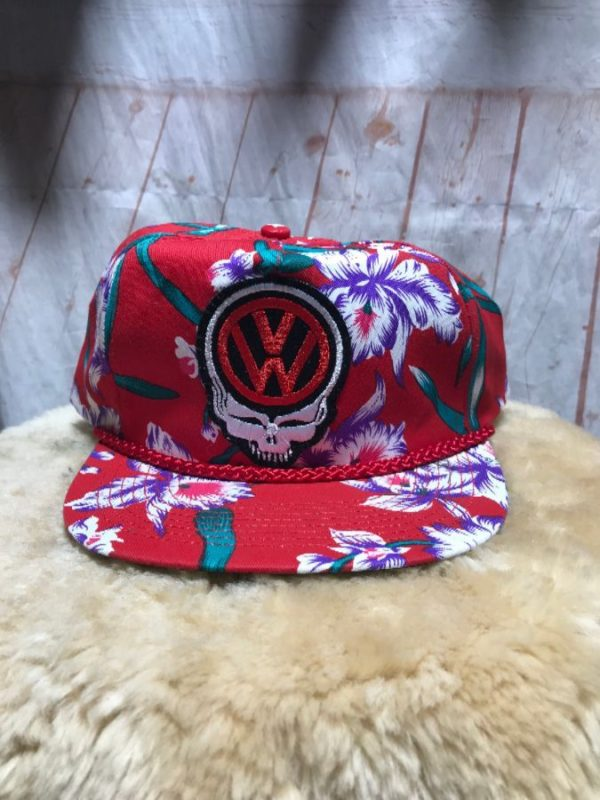 product details: TROPICAL PRINT SNAPBACK HAT W/ VW SKULL GRATEFUL DEAD photo
