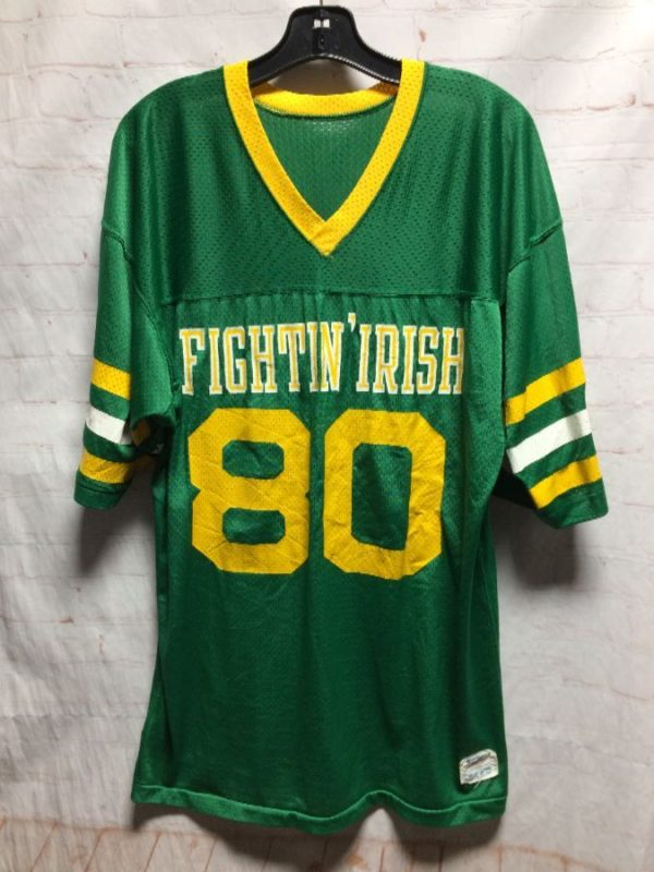 NOTRE DAME FIGHTIN IRISH #80 PRACTICE JERSEY