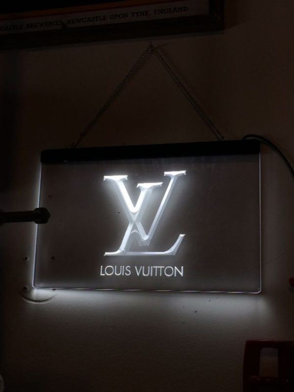 product details: LOUIS VUITTON LOGO LIGHT-UP SIGN W/ LARGE LV DESIGN photo