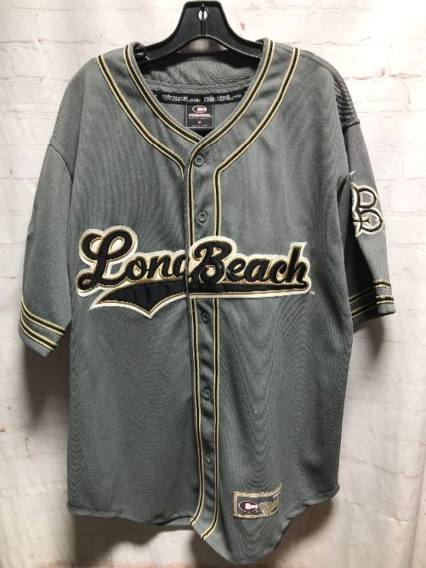 1990'S APPLIQUE/EMBROIDERED LONG BEACH BASEBALL JERSEY