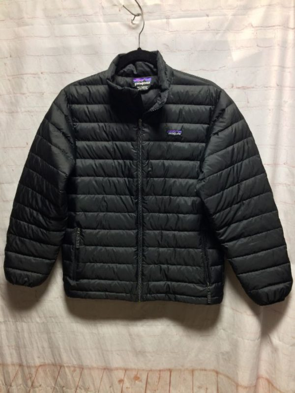 POLYESTER PATAGONIA DUCK DOWN ZIP-UP JACKET