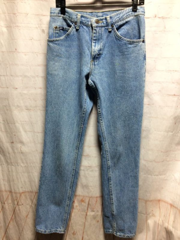 VINTAGE LEE DENIM JEANS W/ HIGH WAIST & CLASSIC MOM STYLE