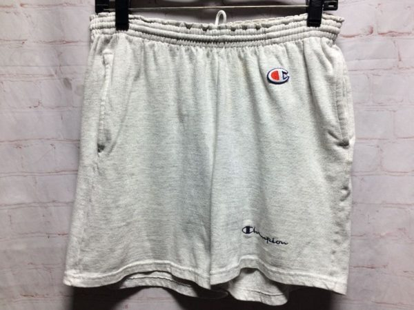 CLASSIC CHAMPION COTTON GYM SHORTS W/ DRAWSTRING