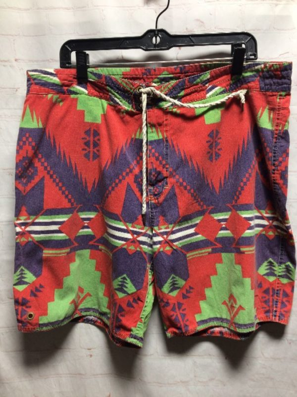 product details: POLO by Ralph Lauren TRIBAL AZTEC PRINTED COTTON BOARDSHORTS photo
