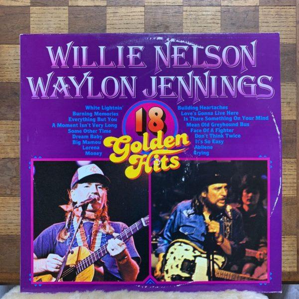 product details: WILLIE NELSON & WAYLON JENNINGS - 18 GOLDEN HITS - VINYL LP RECORD photo