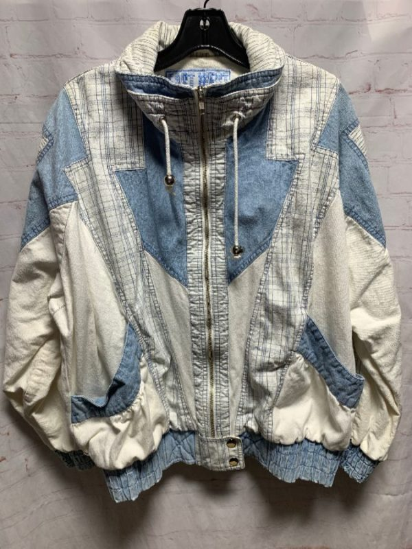 product details: 80S COTTON DENIM PATCHWORK JACKET AS-IS photo