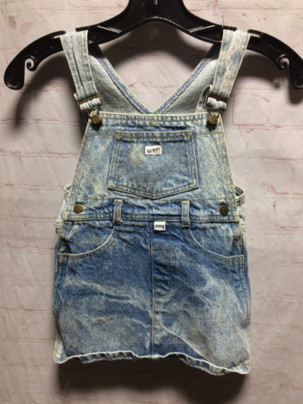 product details: KIDS MINI LENGTH GUESS DENIM OVERALL DRESS photo