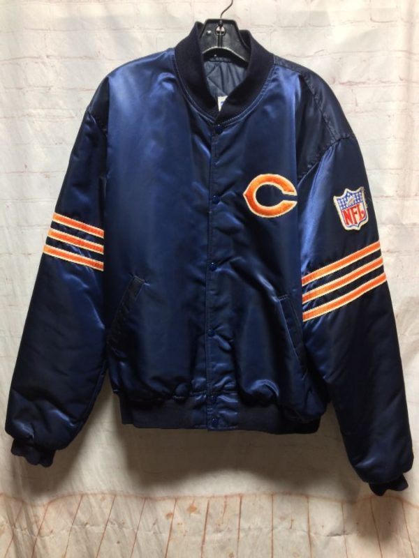product details: CHICAGO BEARS NFL STARTER JACKET W/ EMBROIDERED LOGO photo