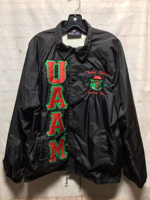 NYLON COACH JACKET UNITED AFRICAN AMERICAN MEN 1993