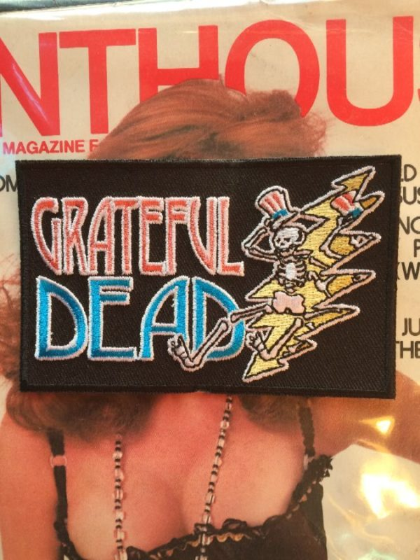 GRATEFUL DEAD W/ DANCING SKELETON & TOP HAT EMBROIDERED PATCH