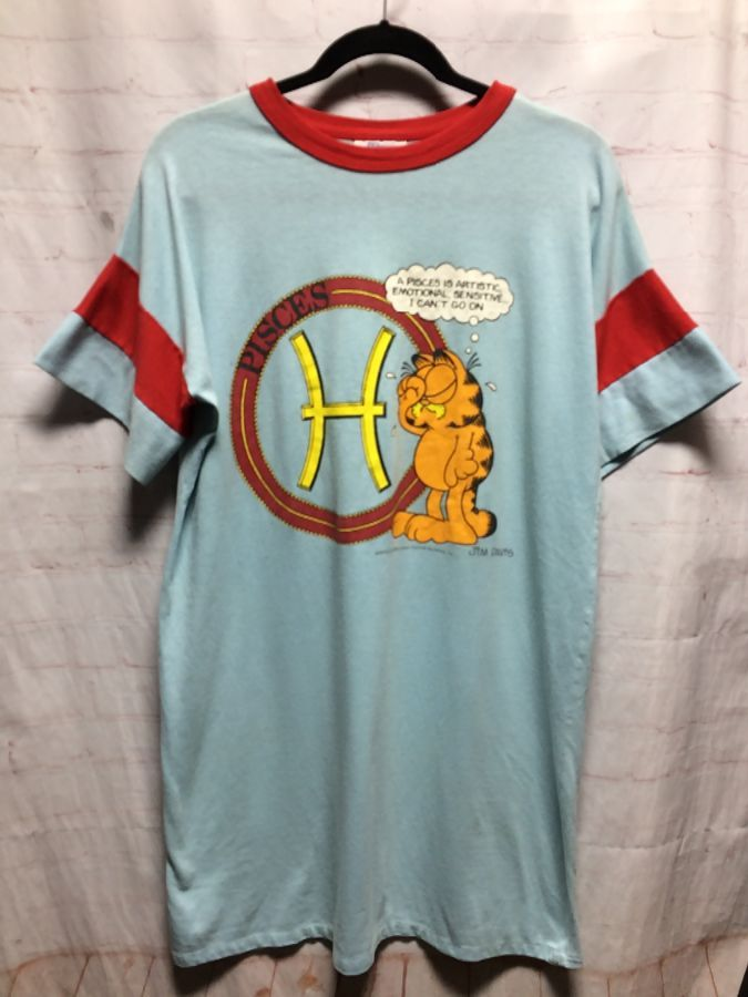1978 Garfield The Cat By Pisces Sign Sleep T Shirt Boardwalk Vintage