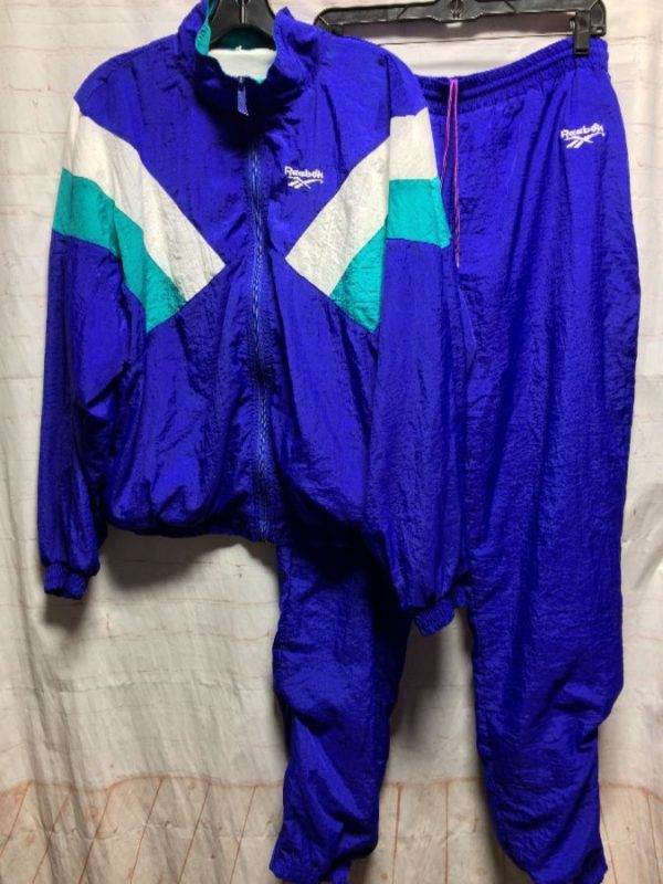 product details: REEBOK COLORBLOCK WINDBREAKER AND TRACK SUIT PANT SET photo