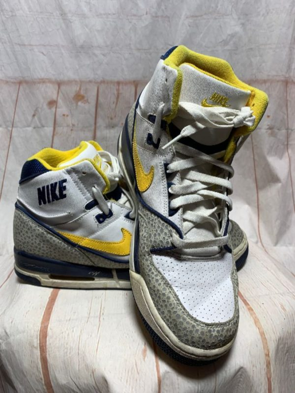 product details: NIKE AIR ASSAULT DUNK SNEAKERS W/ HIGH-TOPS & SAFARI PATTERN photo