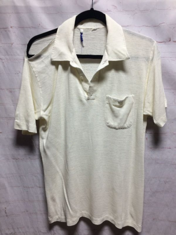 product details: SUPER THIN SHIRT W/ FRONT POCKET & COLLAR photo