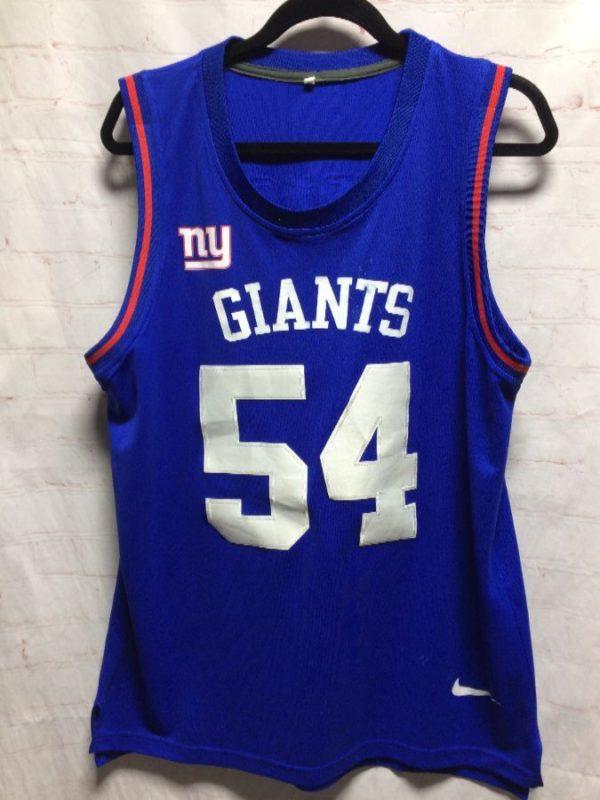 NFL NEW YORK GIANTS SLEEVELESS FOOTBALL WARM-UP JERSEY #54 VERNON