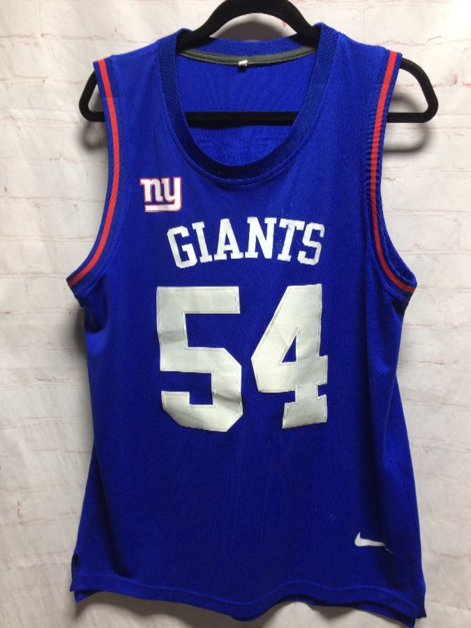 factory price acfd8 14dbf NFL NEW YORK GIANTS SLEEVELESS FOOTBALL WARM-UP JERSEY #54 VERNON