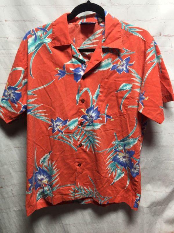 product details: WAIKIKI HOLIDAY HAWAIIAN SHIRT W/ TROPICAL FLORAL PRINT photo