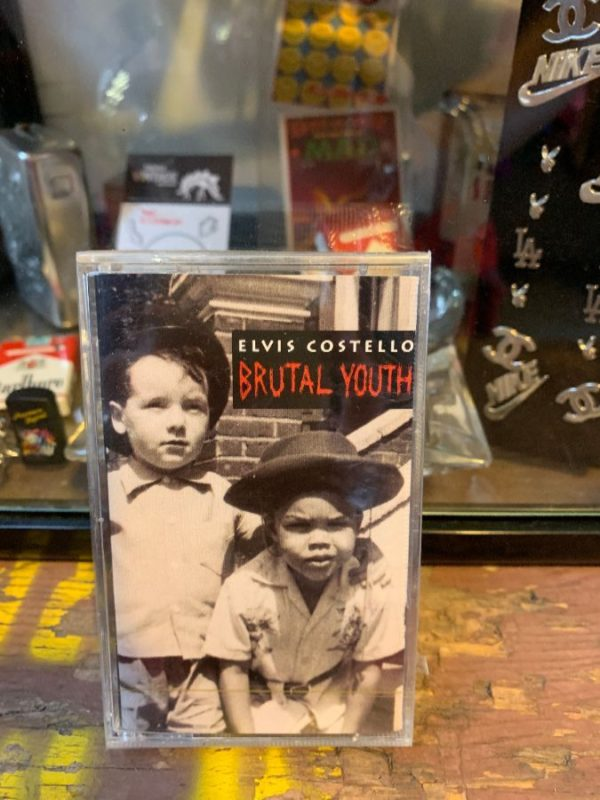 VINTAGE CASSETTE TAPE – ELVIS COSTELLO BRUTAL YOUTH