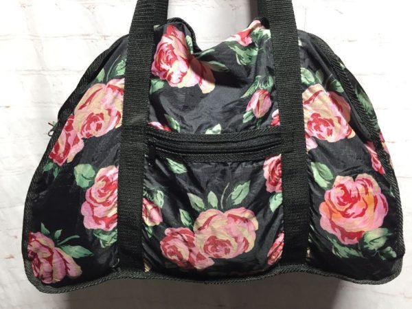 product details: FLORAL PATTERN THIN NYLON WEEKENDER DUFFEL BAG photo