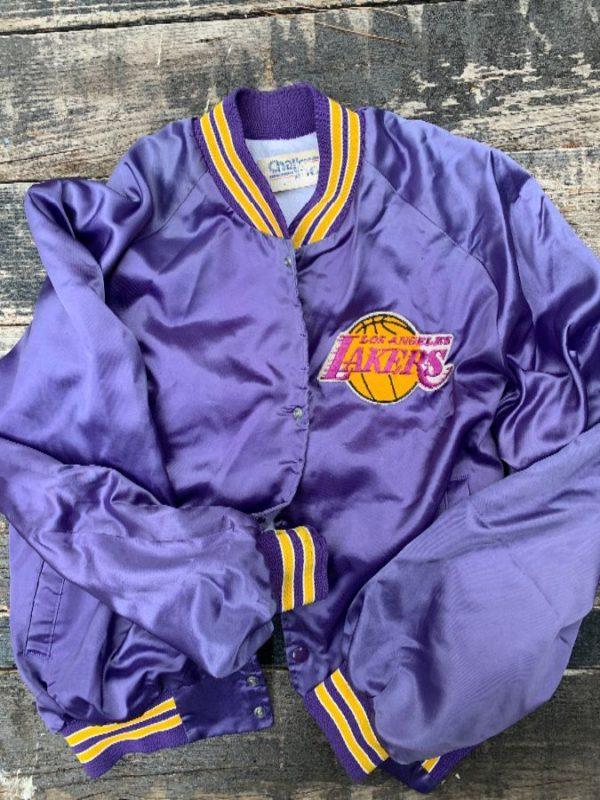 product details: NBA LOS ANGELES LAKERS SATIN CHALKLINE JACKET photo