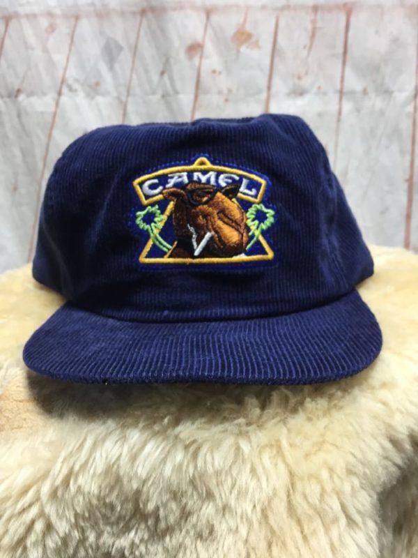 product details: CORDUROY CAMEL CIGARETTE DESIGN BASEBALL CAP photo