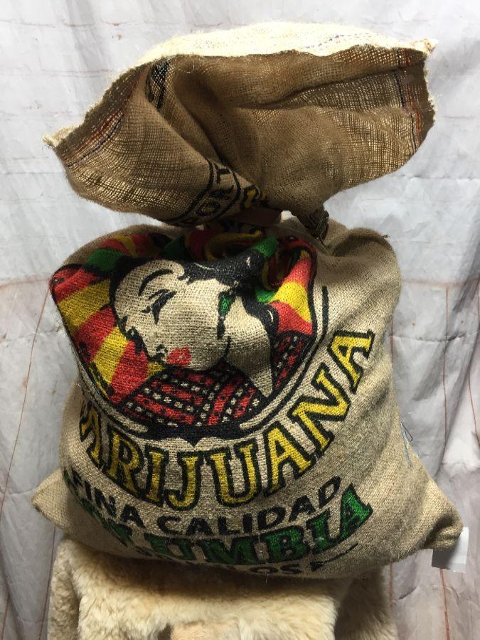 HourGlass Brand Cannabis Marijuana Burlap Sack Bag Colorado Indica