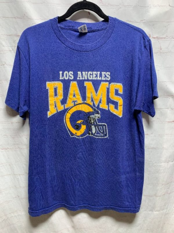 product details: T-SHIRT LOS ANGELES RAMS 50/50 W/ HELMET GRAPHIC photo