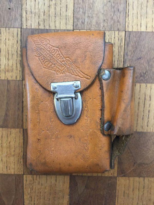 product details: HARLEY DAVIDSON LEATHER CIGARETTE & LIGHTER HOLDER W/ BELT LOOP photo