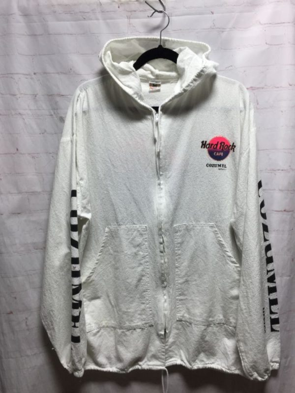 product details: HARD ROCK CAFE COZUMEL MEXICO ZIP-UP COTTON JACKET W/ HOODIE photo