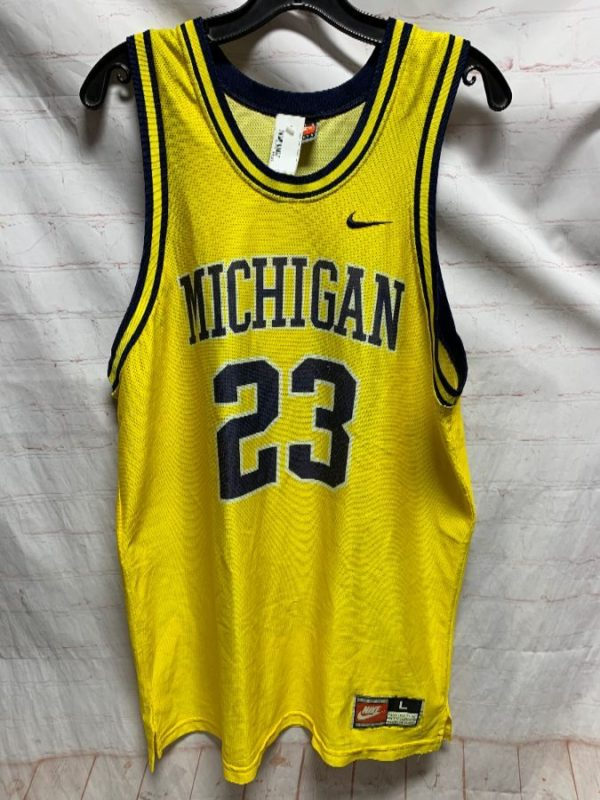 product details: NIKE MICHIGAN WOLVERINES FAB 5 #23 NCAA BASKETBALL JERSEY photo