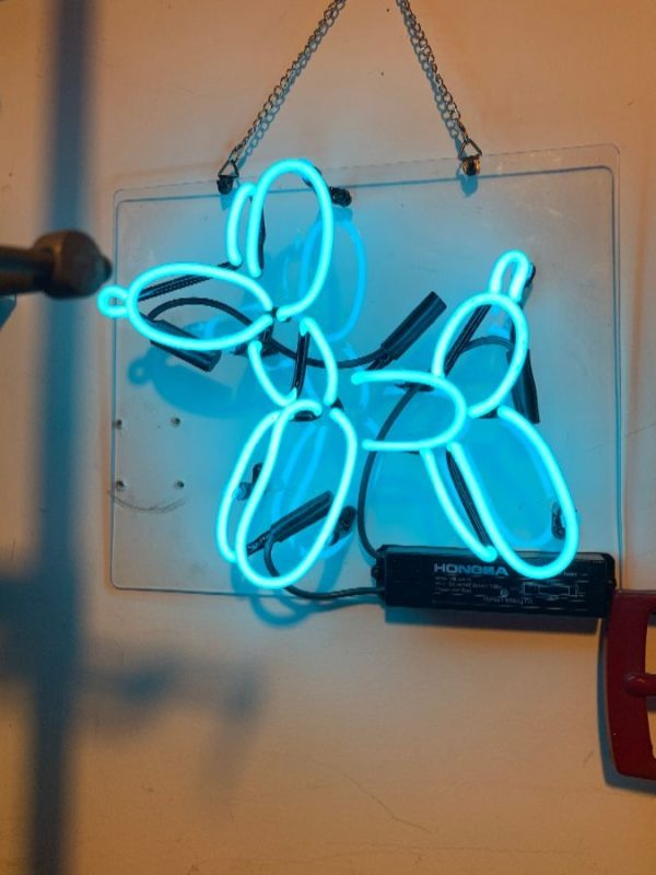 product details: JEFF KOONS BALLOON DOG NEON SIGN photo