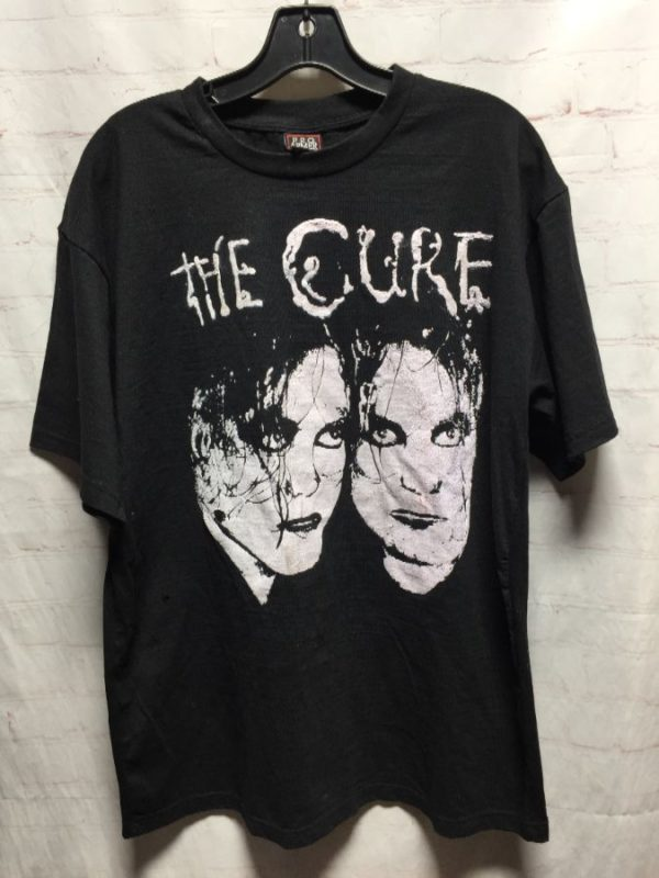 product details: THE CURE - BOYS DON'T CRY T-SHIRT W/ FRONT & BACK GRAPHIC DESIGNS photo