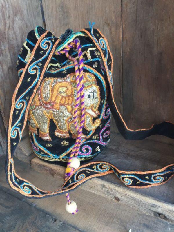 product details: KALAGAN LONG CROSSBODY PURSE W/ THAI PUFFY ELEPHANT DESIGN photo