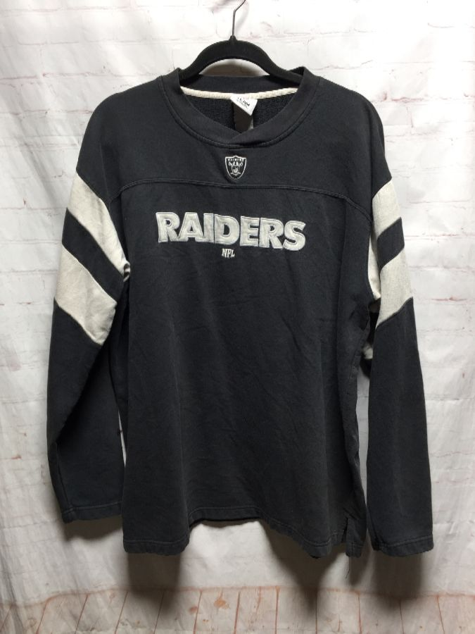 pretty nice 630d9 1a516 EMBROIDERED LOS ANGELES RAIDERS PULLOVER SWEATSHIRT THICK SHIRT