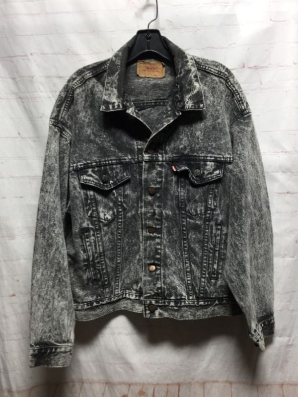product details: 1980'S DARK ACID WASH LEVIS DENIM JACKET photo