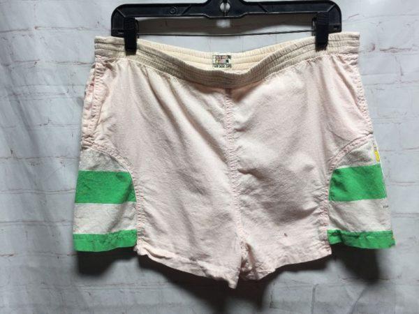 product details: RETRO TON SUR TON SWIM TRUNKS W/ HORIZONTAL STRIPED SIDE PANELS photo