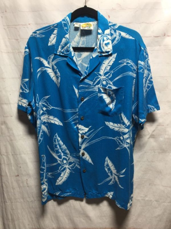 product details: HAWAIIAN SHIRT LIGHTWEIGHT RAYON W/ TROPICAL FLORAL PRINT photo