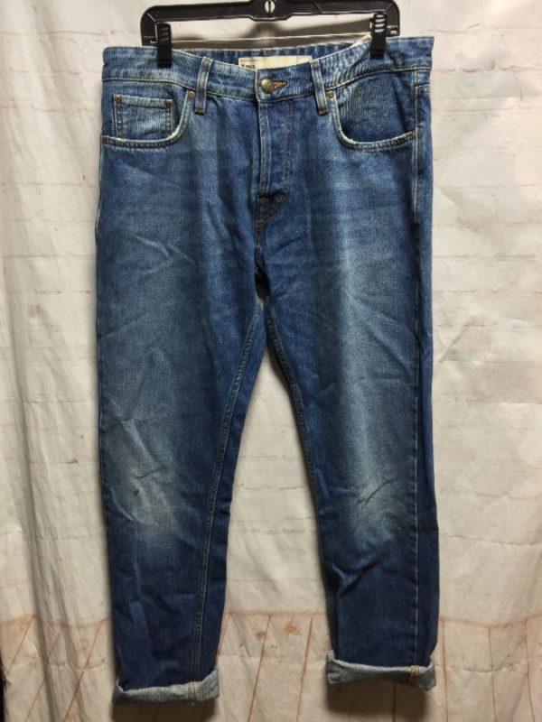 product details: STRAIGHT FIT ZIP-UP DENIM JEANS PANTS photo