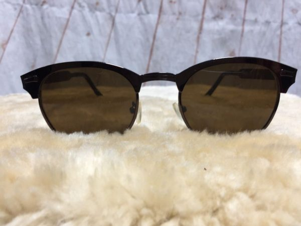 product details: CLUBMASTER SUNGLASSES W/ TORTOISE SHELL PATTERN & WARM TINT LENSES photo