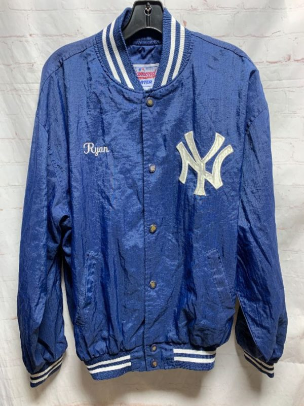 product details: MLB NEW YORK YANKEES THIN FABRIC SNAP-UP STARTER BASEBALL JACKET photo